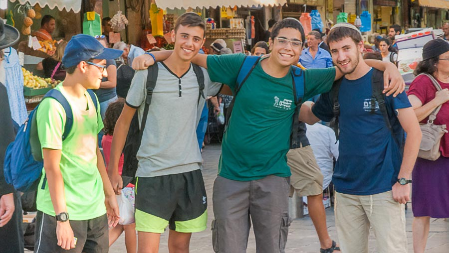 Young Israelis at Machane Yehuda Market, Jerusalem
